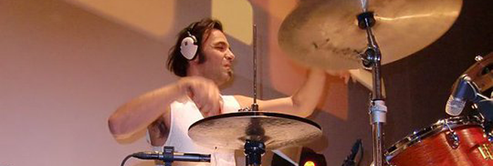 Marius Todor on the drums